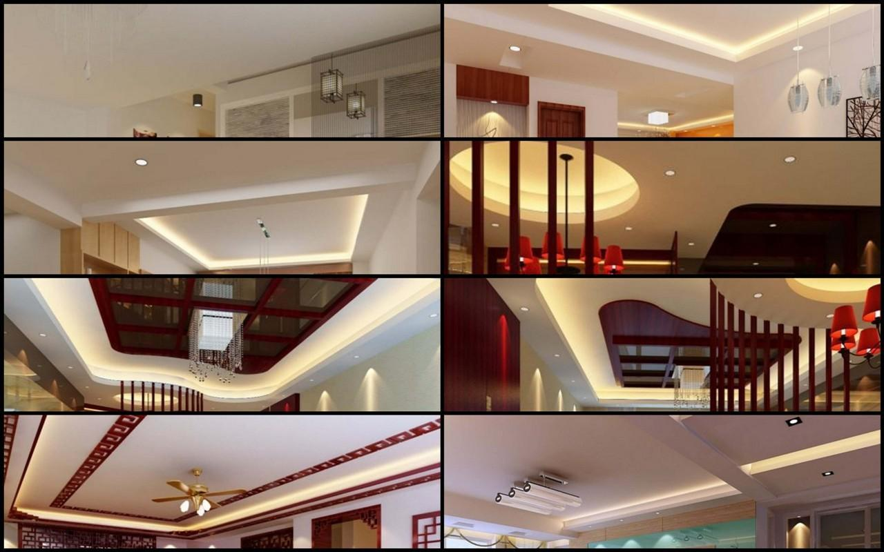 Ceiling designs of different s.