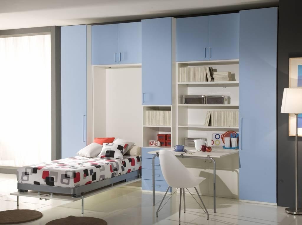 Kids Room Interior Bed Flooring Wardrobe Design