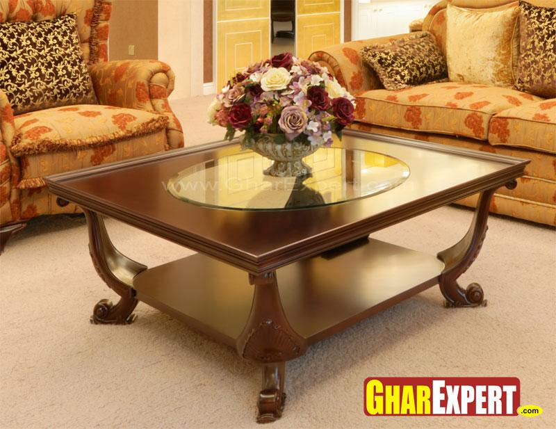Comdesigner Center Tables : stainless center table with 36 x 24 table top acacia wood center table ...