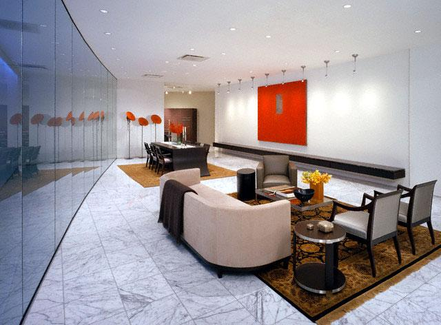 Living Room Marble Flooring