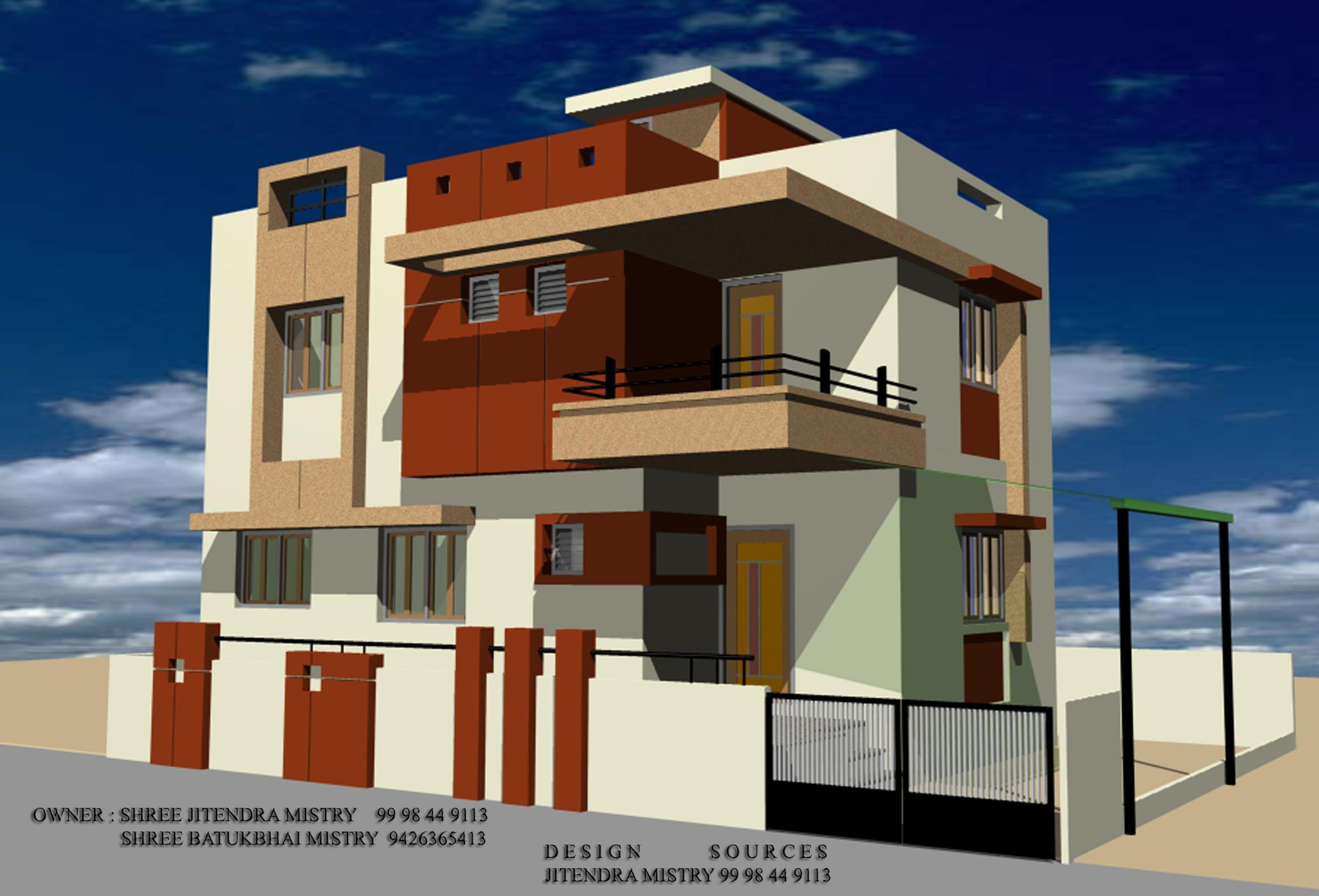 3d front modern elevation gharexpert 3d architecture design