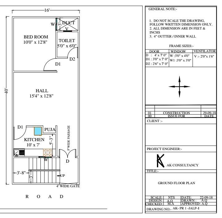 16x40  house plan