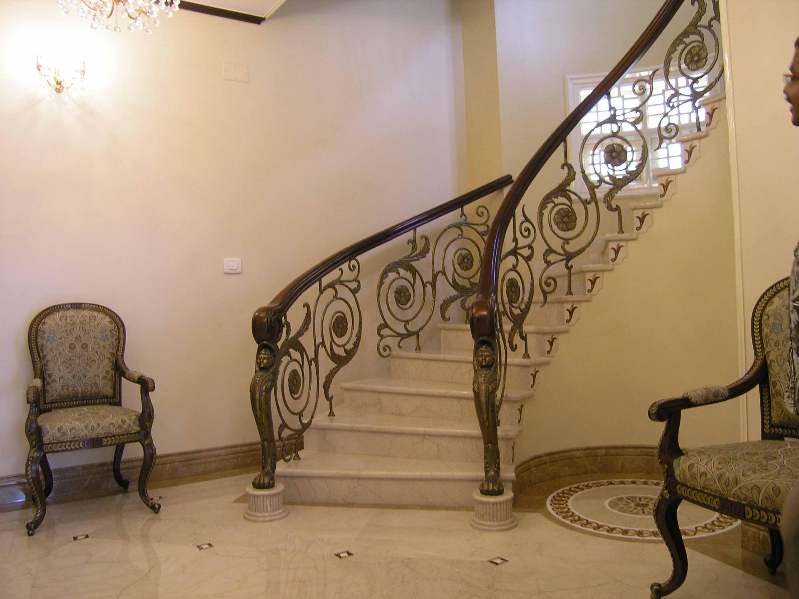 Stairs design with railing design - GharExpert