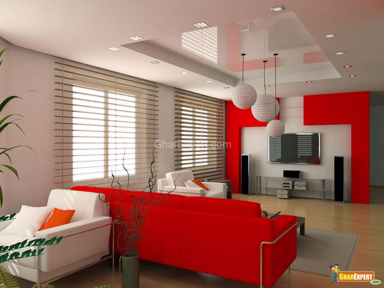 Interior paint scheme for duplex living room by asian Cheerful colors to paint a room