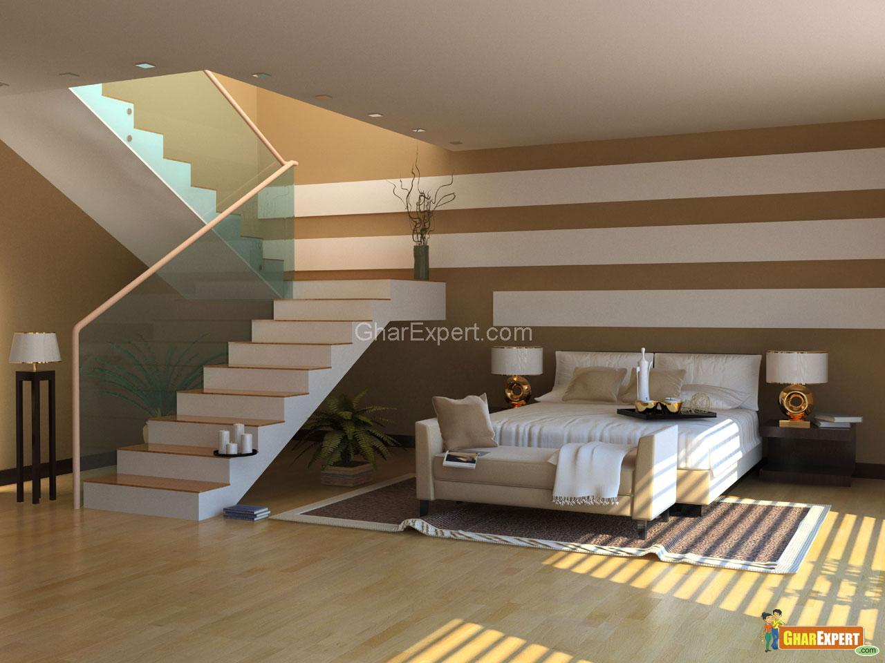 Modern Bedroom With Stairs