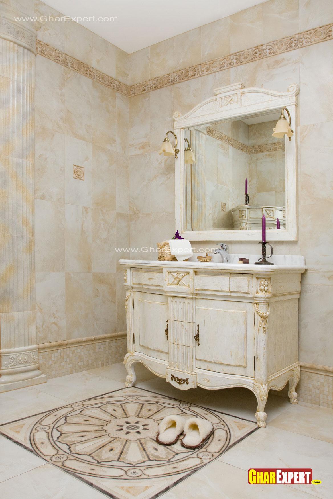 victorian style bath area