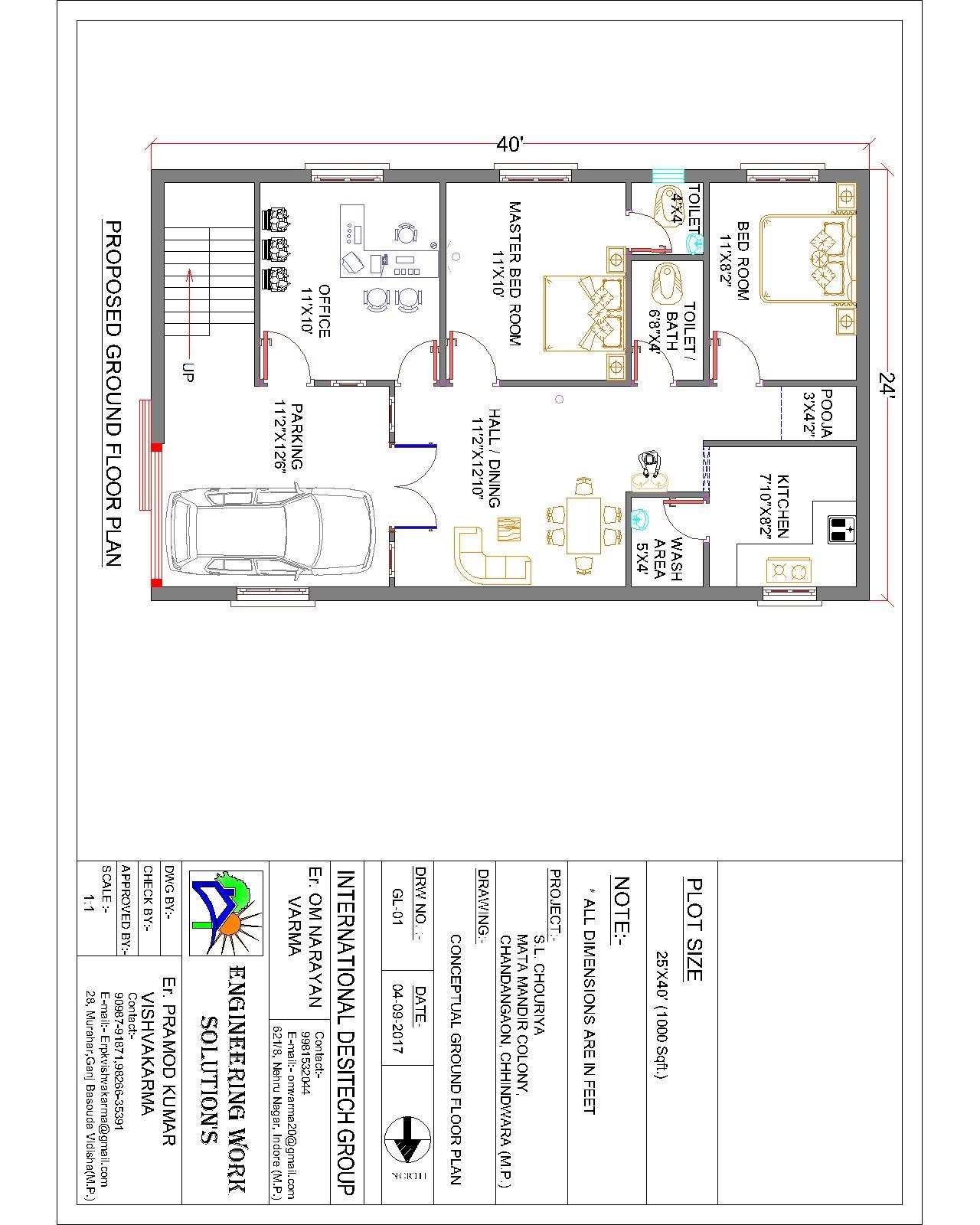 house planning 24x40