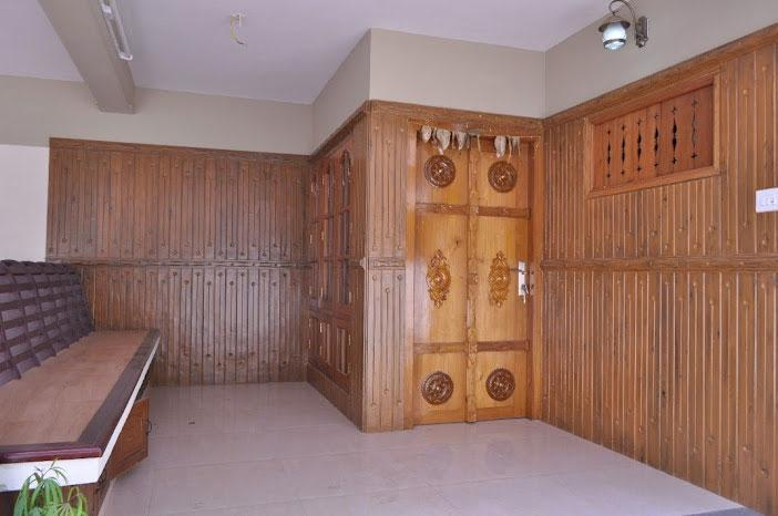 Wooden cladding on Wall with D....