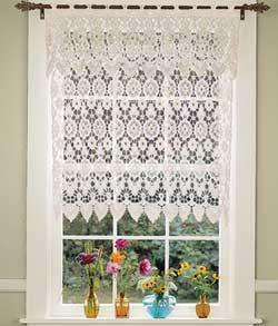 White lace Kitchen Curtain