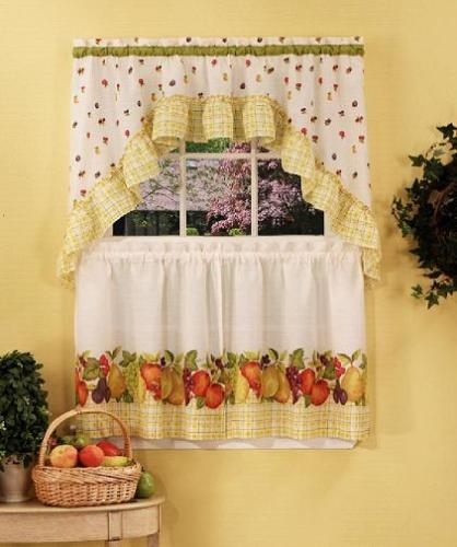 Pleated Kitchen Curtains