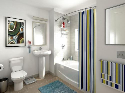 clutter free bathroom