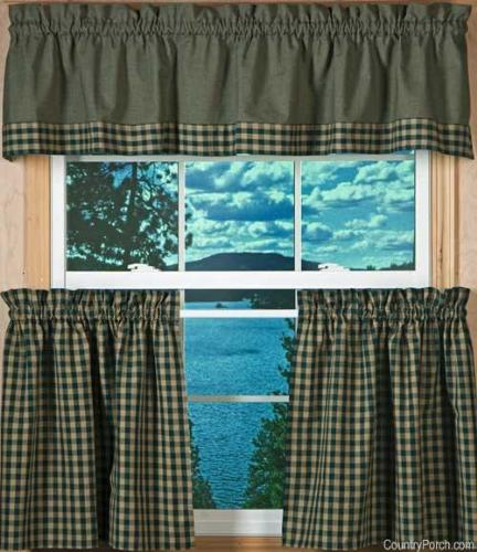 Country style kitchen curtain