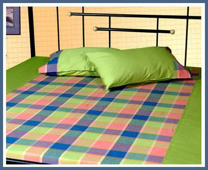 Cotton Check Bed Sheet