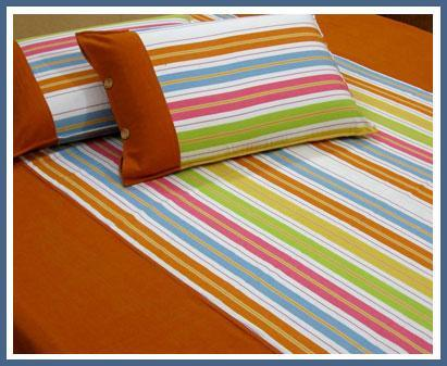 Perfect Striped Cotton Bed Sheet