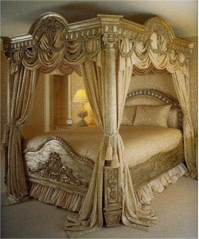 Ethnic style interior decoration ethnic style furniture for Elegant canopy bedroom sets