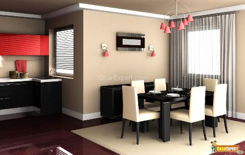 Dining room dining room interior decoration dining for Decoration maison rideaux fenetre