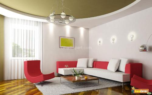 Interior decoration ideas for drawing room drawing room - Interior home color combinations and contrast ...