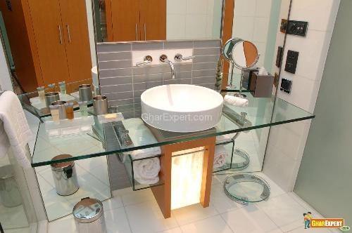 Modern Vanity Design with Wall Mount Sink Faucet
