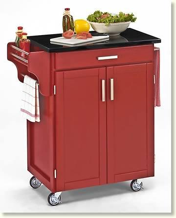 Red kitchen trolley