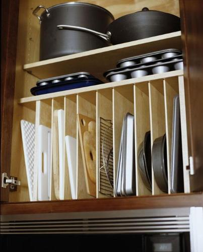 Cabinets with wooden dowel
