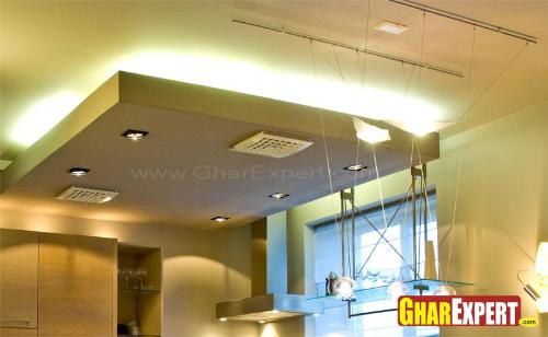 Drop Ceiling Design with LED Lighting