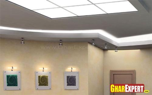 Glass Ceiling with blend of False Ceiling