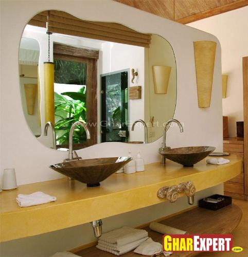 bathroom vanity glass