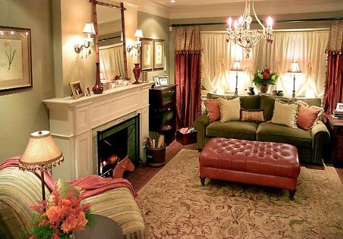 Living Room Fireplace Lighting