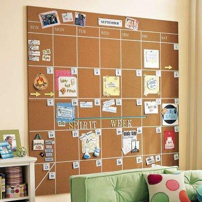 Corkboards in Teenage Bedroom