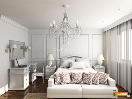 Modern Style Bedroom  With Furnishings Styles of Traditional Country