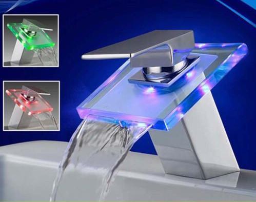 LED Lighting Sink Faucet
