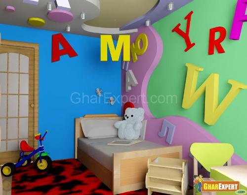 kids room ceiling design - Wall Design For Kids