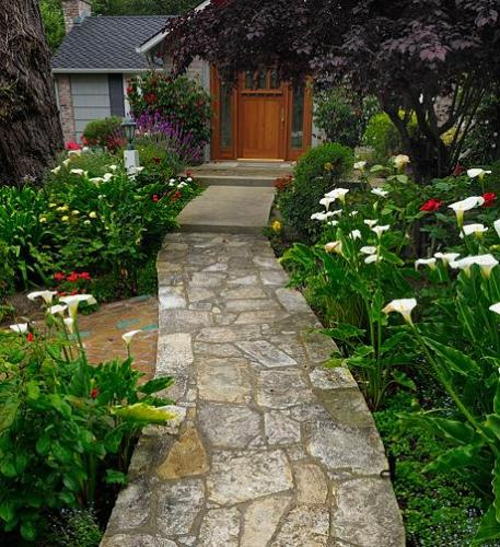 Garden path garden path designs pebble path concrete for Garden path designs