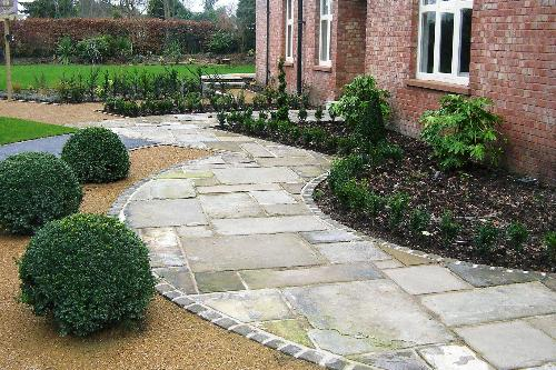  Stone slab path