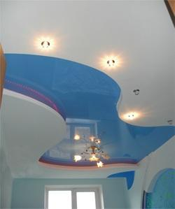 False Ceiling with blue color