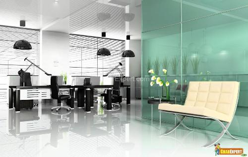 Glass Partition Wall in Office