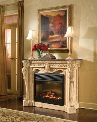 french style fireplace