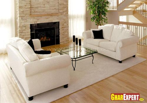 Sofa Set Design in White Color
