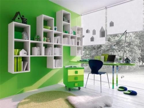 Stylish Wall Shelves for Kids Books