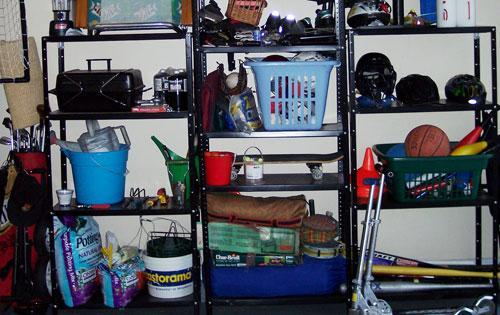 Garage storage rack