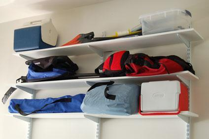 Garage shelf storage