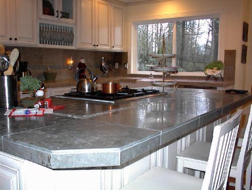 Limestone Kitchen Island
