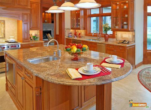 organized kitchen island
