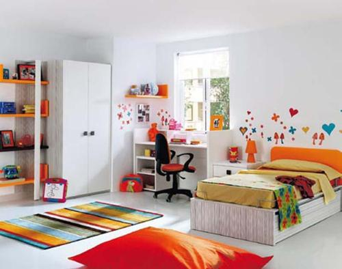 Kids White Bedroom Furniture Set