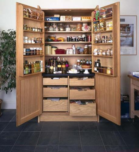 Wooden Kitchen Pantry