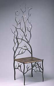 Wrought iron chairs for living room