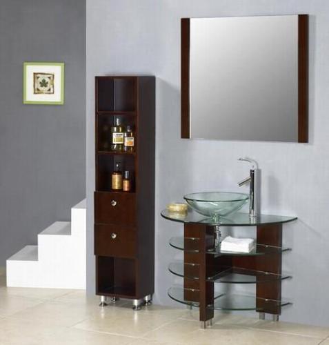 Open Glass Shelves