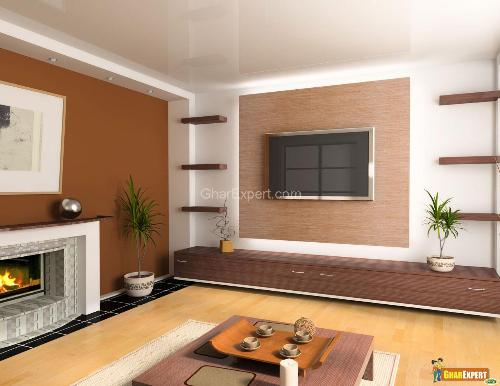 Brown Color Paint in Living Room