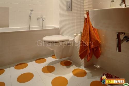 Ceramic Tile flooring in Bathroom