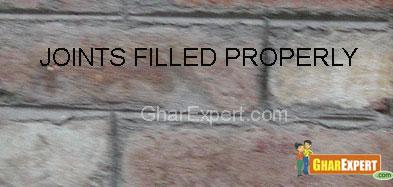 Defects in brick work
